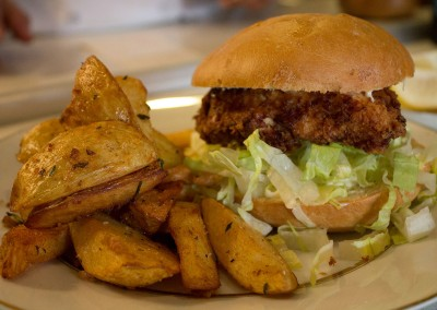 Chicken Sandwich and Rosemary Fries